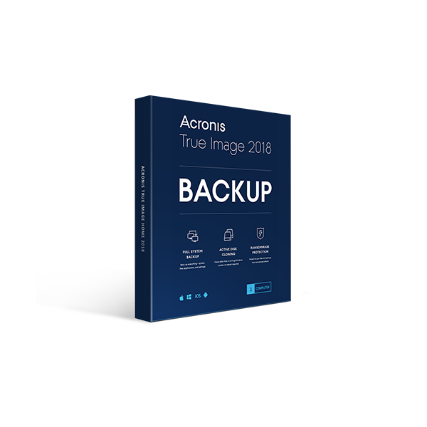 Acronis True Image Home 2018 1PC PC Backup and Recovery Retail