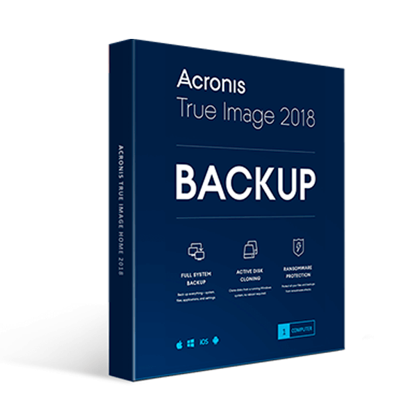 Acronis True Image Home 2018 3PC Family Pack PC Backup and Recovery Retail