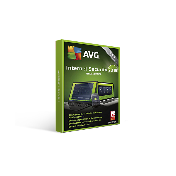 AVG Internet Security 2019 1y1pc Retail Box