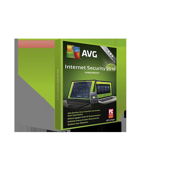 AVG Internet Security 2019 Retail key 2y1pc