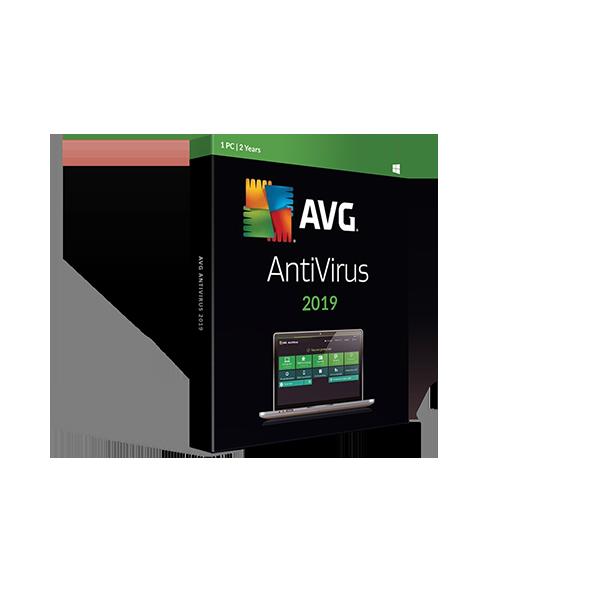 AVG Antivirus 2019 Retail electronic license – 2y1pc