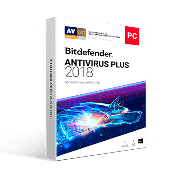 Bitdefender AntiVirus Plus 2019 (1YR, 1PC) Download