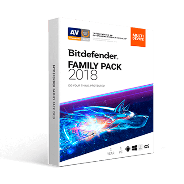 Bitdefender Family Pack 2019 (1YR, 1 User Unlimited PC/Mac) Download