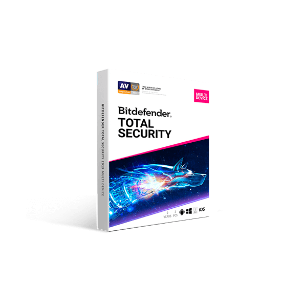 Bitdefender Total Security 2019 Multi Device (2YR, 3 PC/Mac) Download