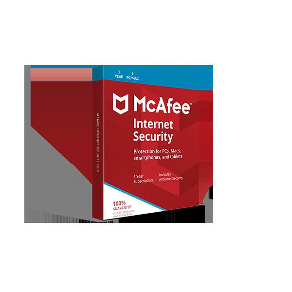 McAfee Internet Security 2019 (1YR, 1 PC/Mac) Download