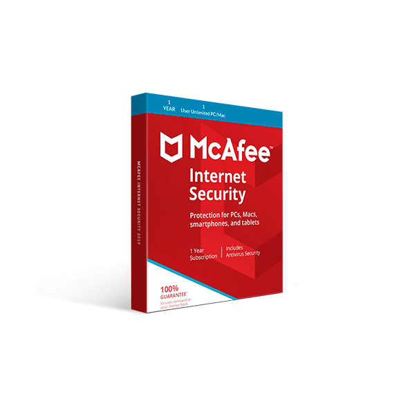 McAfee Internet Security 2019 (1YR, 1 User Unlimited PC/Mac) Download