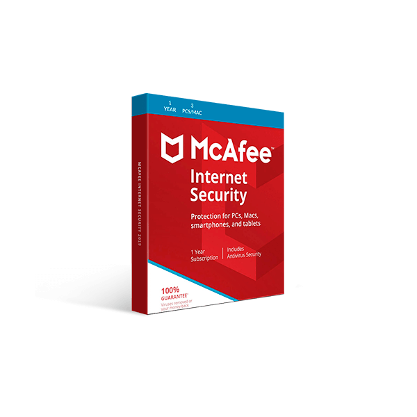 McAfee Internet Security 2019 (1YR, 3 PC/Mac) Download