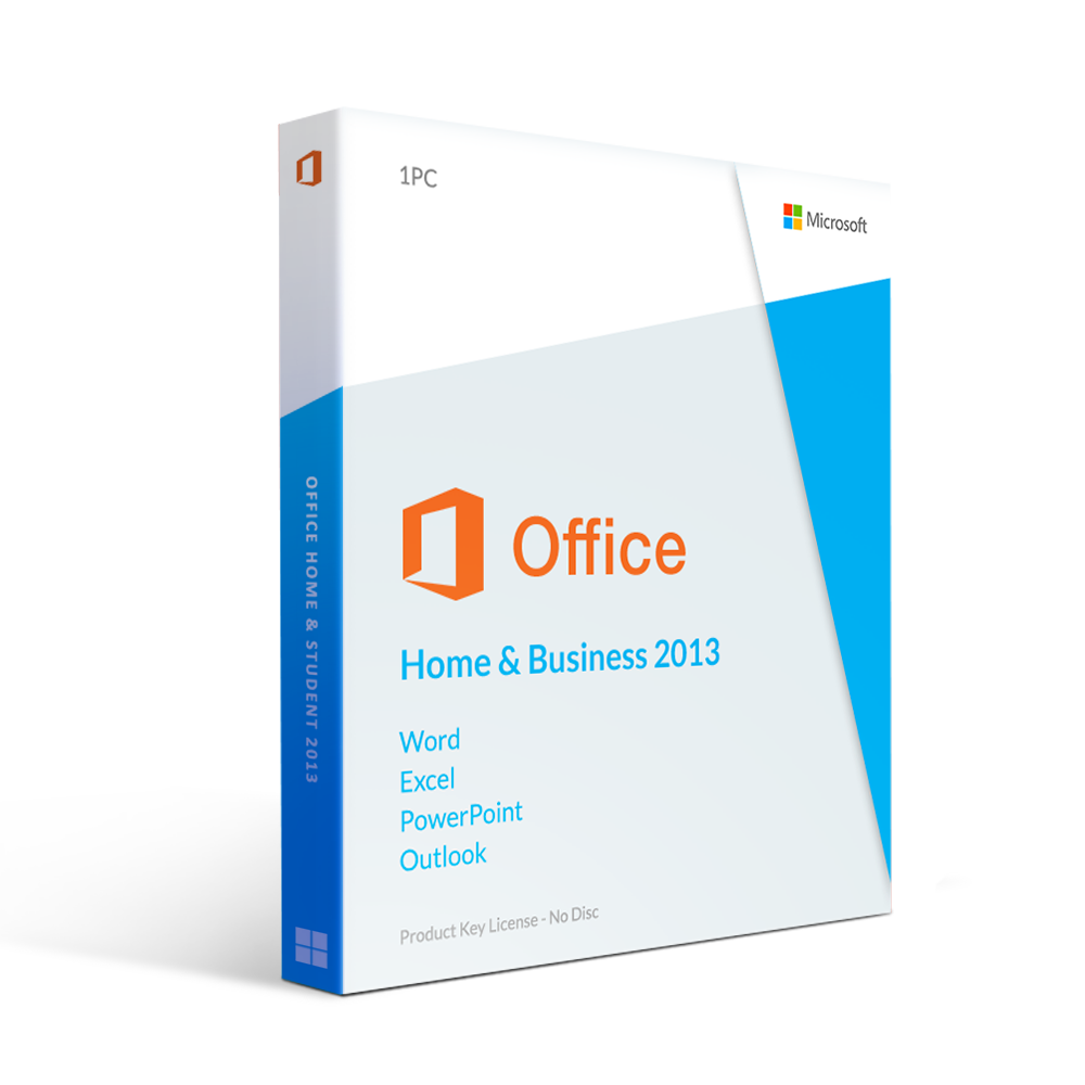 Microsoft Office 2013 Home and Business License Spanish/English