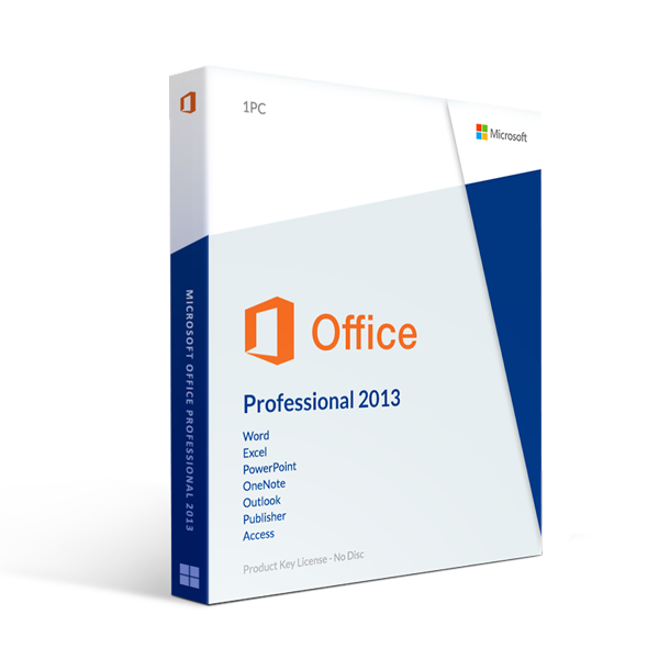 Microsoft Office 2013 Professional Plus - License For 2 Pc