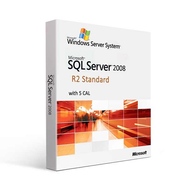 Microsoft SQL Server 2008 R2 Standard with 5 CAL