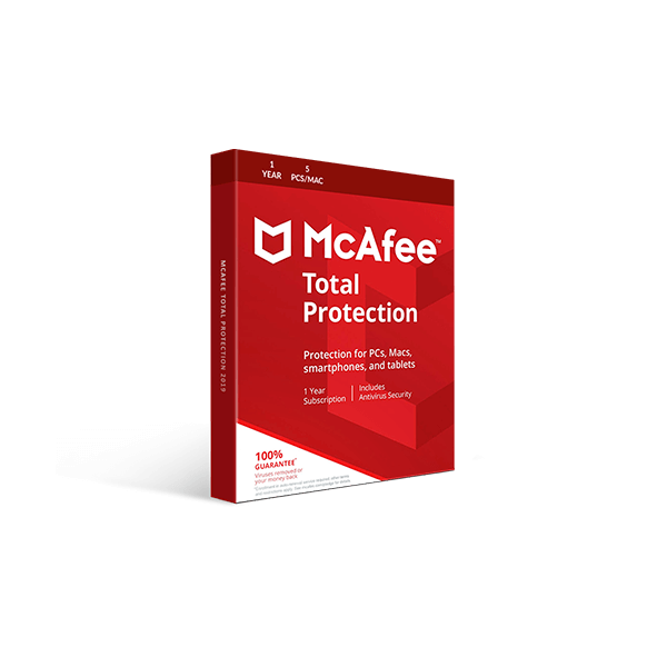McAfee Total Protection 2019 (1YR, 5 PC/Mac) Download