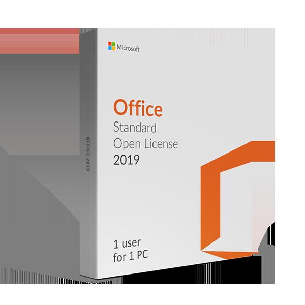 Microsoft Office 2019 Standard Open License