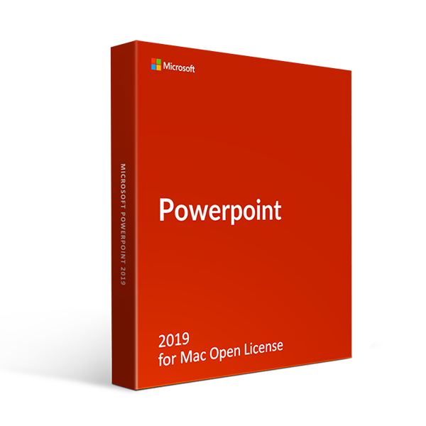 Microsoft Powerpoint 2019 for Mac Open License