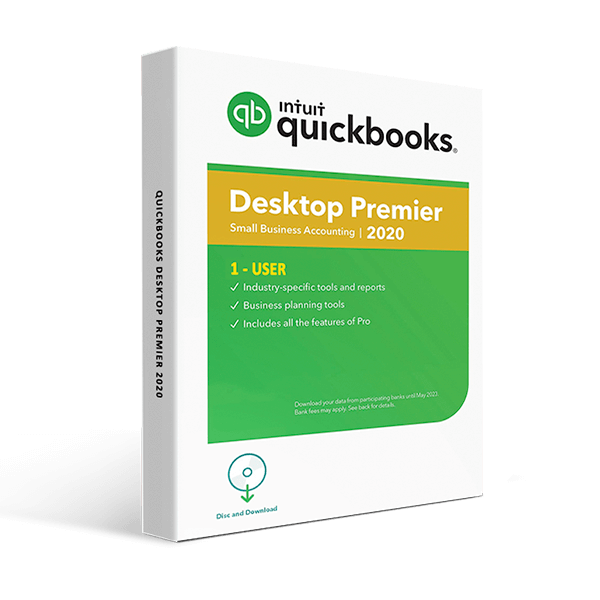 QuickBooks Desktop Premier 2020 – 1 User