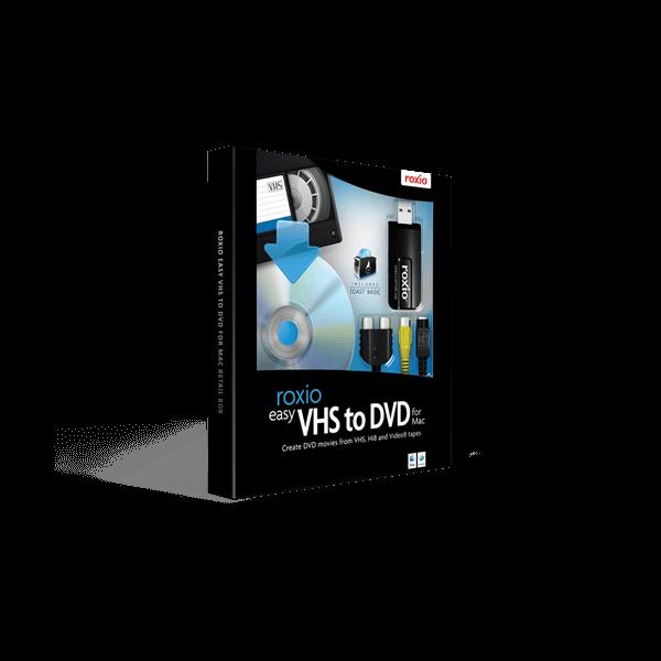 Roxio Easy VHS to DVD For Mac Retail Box
