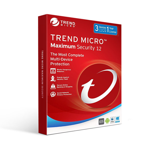 Trend Micro Maximum Security 1 YEAR 3PC